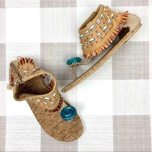 Disney Store Moana Seashell Sandals Sz 2/3
